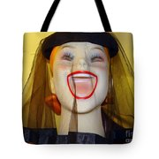 Veiled Laugh Tote Bag