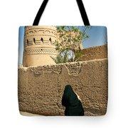 Veiled Woman In Yazd Street In Iran Tote Bag