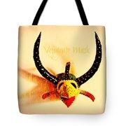 Vejigante Mask Tote Bag by Lilliana Mendez