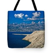 Velebit Mountain From Island Of Pag Tote Bag