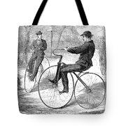 Velocipedes, 1868 Tote Bag
