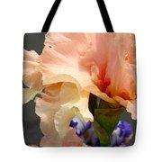 Velvety Soft Vanilla And Pink Iris Tote Bag