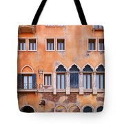 Venetian Building Wall With Windows Architectural Texture Tote Bag