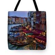 Venetian Grand Canal At Dusk Tote Bag