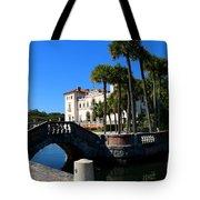 Venetian Style Bridge And Villa In Miami Tote Bag