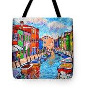 Venezia Colorful Burano Tote Bag