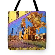 Venice Beach Posterized Tote Bag