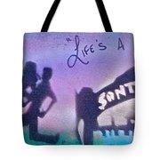 Venice Beach To Santa Monica  Purple Tote Bag