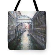 Venice Bridge Of Sighs - Original Oil Painting Tote Bag