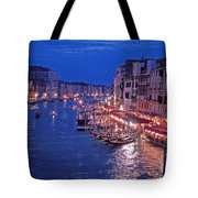Venice - Canale Grande By Night Tote Bag