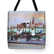 Venice Gondola With Full Moon Tote Bag