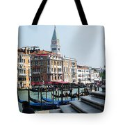 Venice Gondolas On Canal Grande Tote Bag