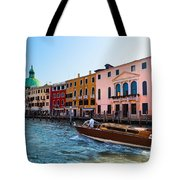 Venice Grand Canal View Italy Sunny Day Tote Bag