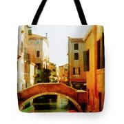 Venice Italy Canal With Boats And Laundry Tote Bag