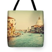 Venice Italy  Grand Canal In Vintage Style Tote Bag