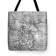 Venice: Map, 12th Century Tote Bag