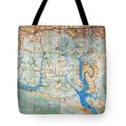 Venice: Map, 1546 Tote Bag