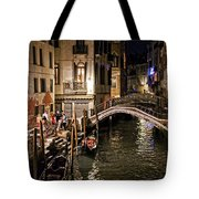 Venice Night By The Canal Tote Bag