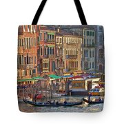 Venice Palazzi At Sundown Tote Bag