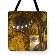 Venice - St Marks Basilica Interior Tote Bag