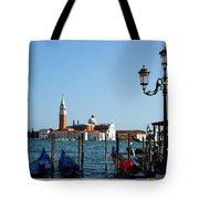 Venice View On Basilica Di San Giorgio Maggiore Tote Bag