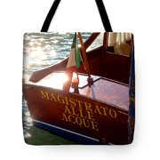 Venice Water Authority Boat Tote Bag