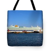 Ventura Sheildhall Calshot Spit And A Tug Tote Bag by Terri Waters