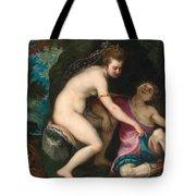 Venus And Adonis Tote Bag