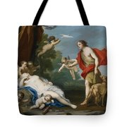 Venus And Adonis Tote Bag