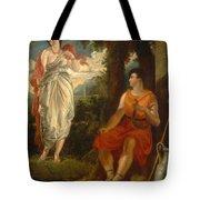 Venus And Anchises Tote Bag