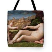 Venus And Cupid Tote Bag