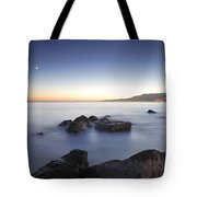 Venus And The Moon Over The Mediterranean Sea Tote Bag