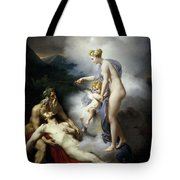 Venus Healing Aeneas Tote Bag