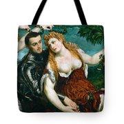 Venus Mars And Cupid Crowned By Victory Tote Bag