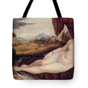 Venus With The Organ Player Tote Bag