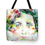 Vera Brittain - Watercolor Portrait Tote Bag