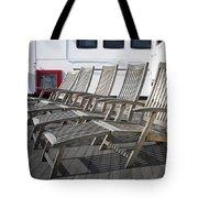 Verandah Seating 02 Queen Mary Ocean Liner Long Beach Ca Tote Bag