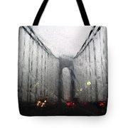 Verazanno Bridge Rain Photofresco Tote Bag