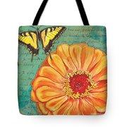 Verdigris Floral 1 Tote Bag by Debbie DeWitt