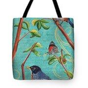 Verdigris Songbirds 1 Tote Bag