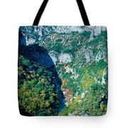 Verdon Gorge In Autumn Tote Bag