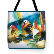 Veridian Chicken Tote Bag