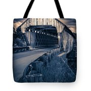 Vermont Covered Bridge In Moonlight Tote Bag