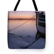 Vermont Lake Champlain Sunset Nautical Boat  Tote Bag