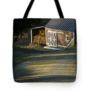Vermont Maple Sugar Shack Sunset Tote Bag by Edward Fielding