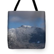 Vermont Mount Mansfield Winter Green Mountains Tote Bag