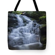 Vermont New England Waterfall Green Trees Forest Tote Bag