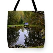 Vermont Pond In Autumn Tote Bag