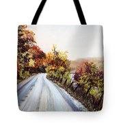 Vermont Road Tote Bag