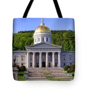 Vermont State Capitol In Montpelier  Tote Bag